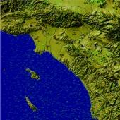 Southern California Wind Pattern Streaklines